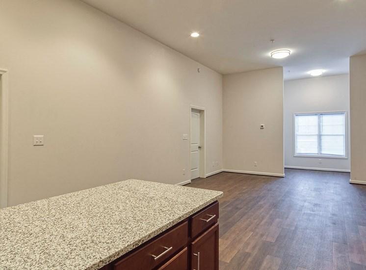 Wood floors at Logans Landing Apartments in Lynchburg VA