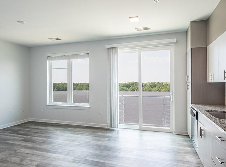 One bedroom interior at Helix Apartments in Chesapeake VA