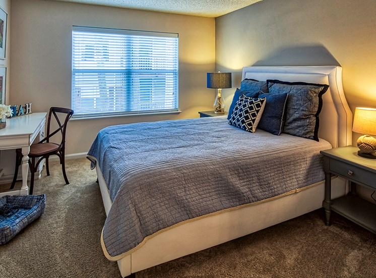 Bed at Marina Shores Apartments in Virginia Beach