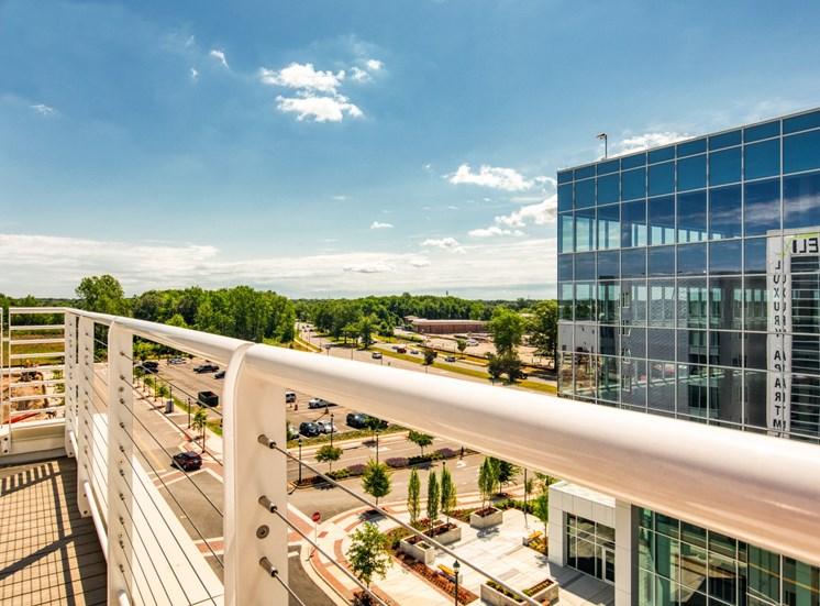 Balcony at Helix Apartments in Chesapeake VA