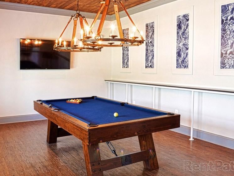 Billiard Tables at The Indigo at Cross Creek