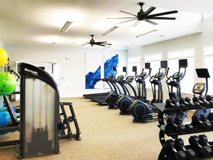 On Site Fitness Center at The Indigo at Cross Creek