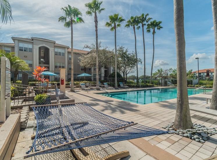 Poolside Hammocks at The Boot Ranch Apartments, Palm Harbor, FL, 34685