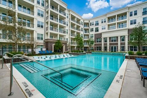 Courtyard Pool at Epoch on Eagle Apartments in Denton, Texas, TX