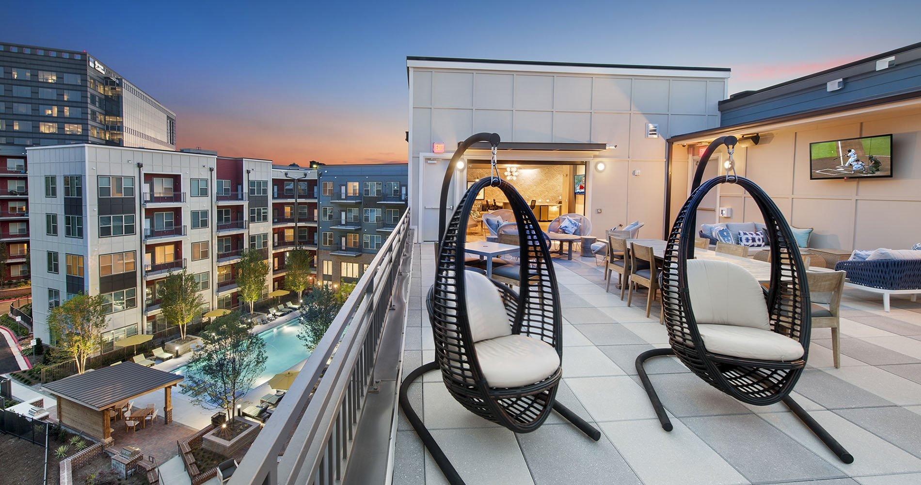 Rooftop Deck at City View Vinings Apartments in Atlanta, GA 30339