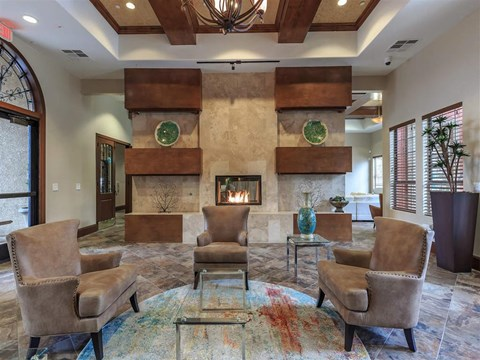 Ample Seating Spaces In Montecito Pointe Clubhouse in Las Vegas, NV Apartment Rentals for Rent