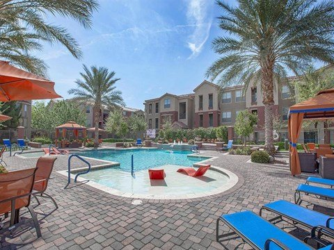 Sonata Pool-Side Cabana With Relaxing Chair in North Las Vegas Rentals