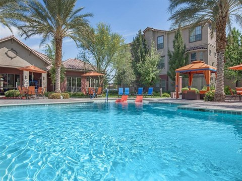 Cool View Of Pool at Sonata Apartments for Rent in North Las Vegas, NV