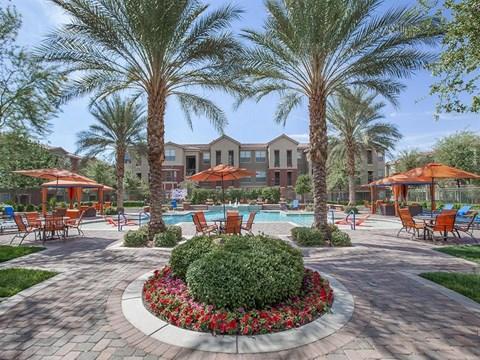 Sun-Kissed Sonata Courtyard Garden in North Las Vegas Rentals