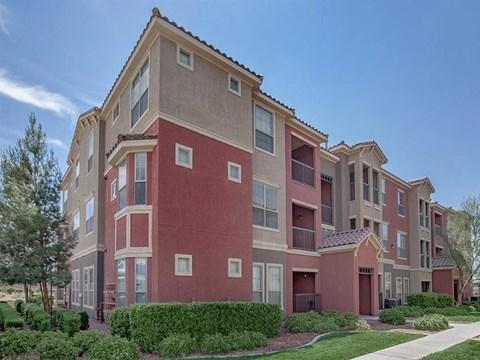 Elegant Exterior View Of Sonata Apartment Rentals in North Las Vegas, NV