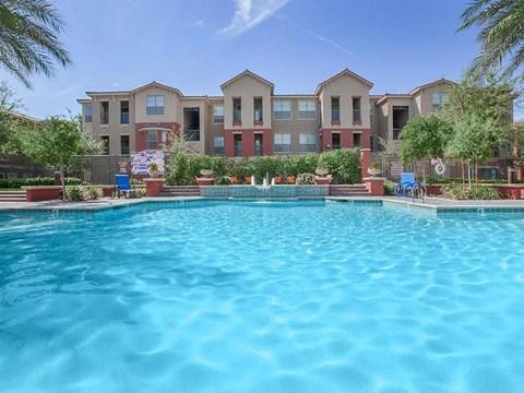 Blue Cool Pool Water at Sonata Apartments in North Las Vegas