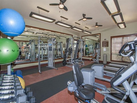 Sonata Fitness Center With Modern Equipment in Nevada Apartment Homes for Rent