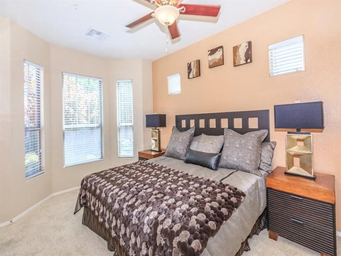 Large Sonata Bedroom With Ceiling Fan in North Las Vegas, NV Apartment Homes for Rent