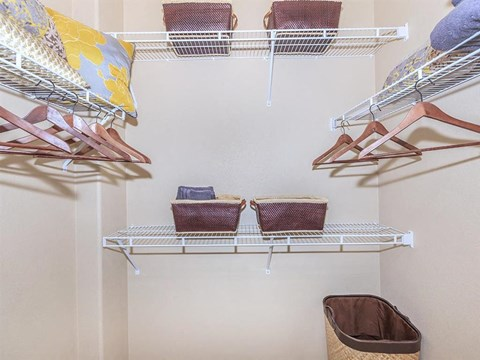 Sonata Walk-In Closets With Built-In Shelving in North Las Vegas Apartment Rentals