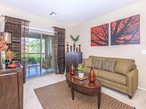 Well Lit Sonata Living Room in North Las Vegas, NV Rental Homes