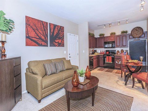 Sonata Living Room Come Kitchen View in North Las Vegas, NV Apartments