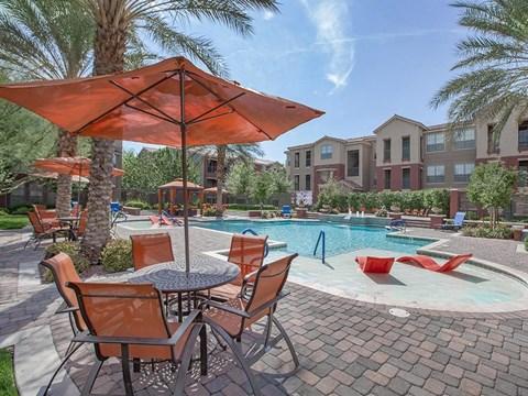 Sonata Sun Deck And Poolside Cabanas in Nevada apartments