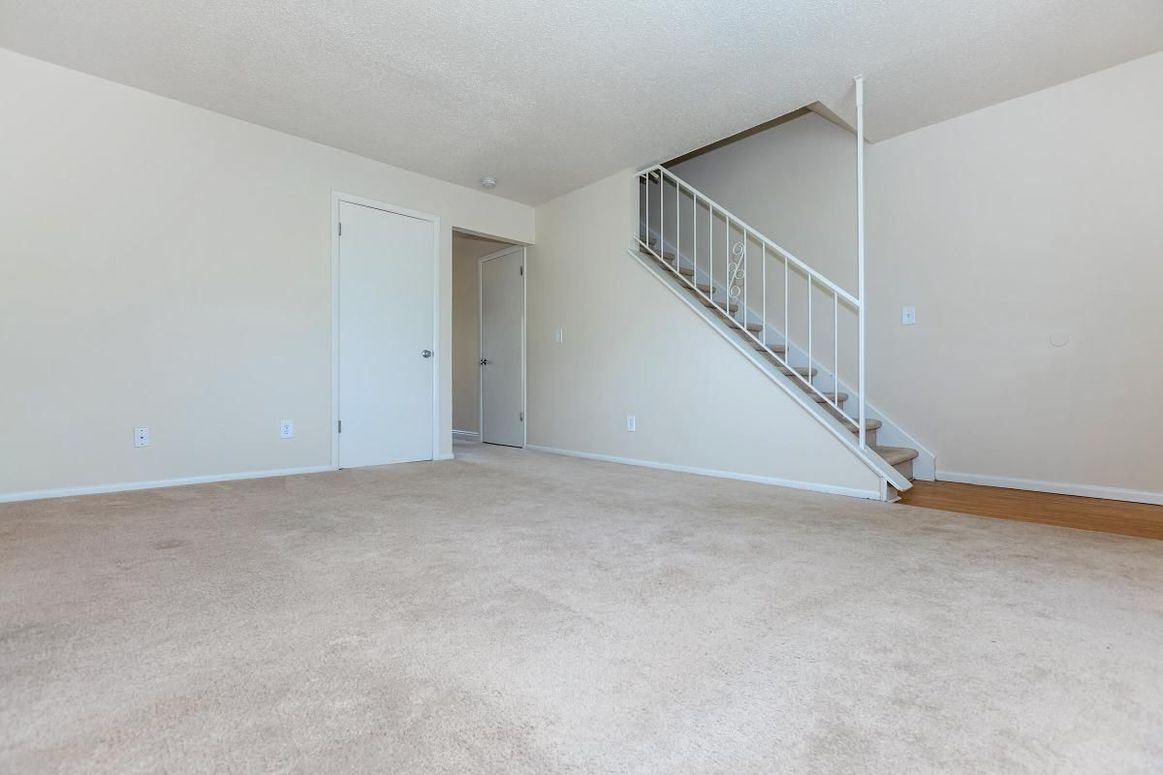 Alder Square Living Room with stairs