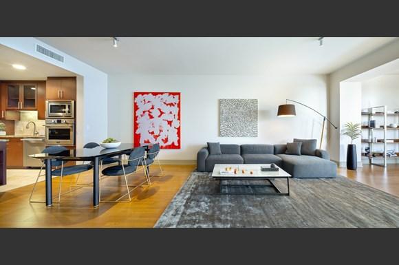 westwood luxury apartments wilshire victoria unit 401 living room2
