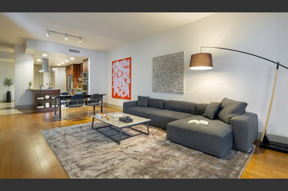 westwood luxury apartments wilshire victoria unit 401 living room