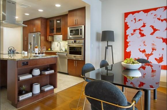 westwood luxury apartments wilshire victoria unit 401 kitchen