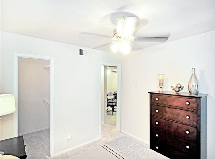 1 and 2 bedroom apartments now leasing - ceiling fans at Greenbriar Apartments.