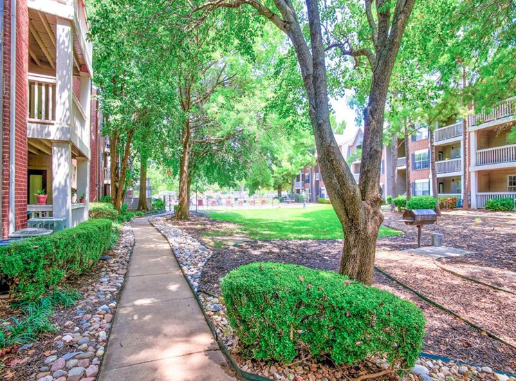 Mature trees, BBQs and a pet friendly apartment community in South Tulsa, OK. Now leasing apartments at Greenbriar.