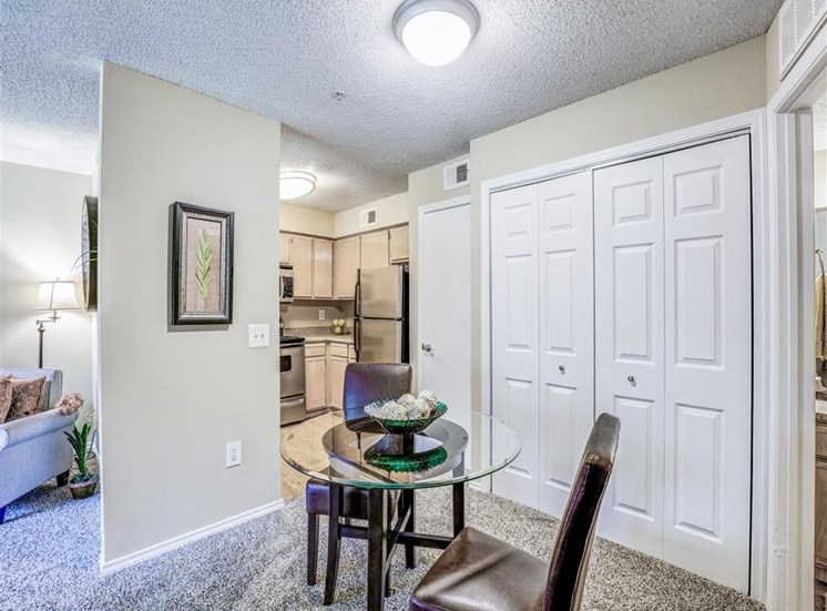 Massive closets at Trinity Square Apartments in North Dallas, TX, For Rent. Now leasing 1 and 2 bedroom apartments.