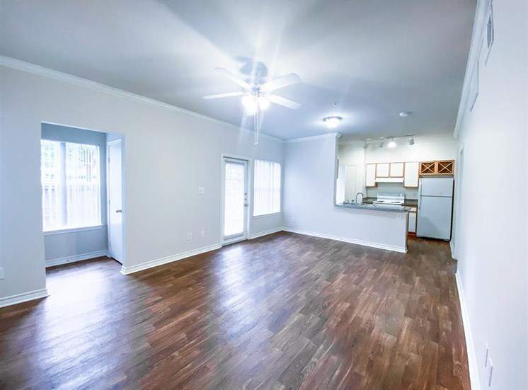 Open floor plan at Tuscany Square Apartments in North Dallas, TX, For Rent. Now leasing Studio, 1 and 2 bedroom apartments.