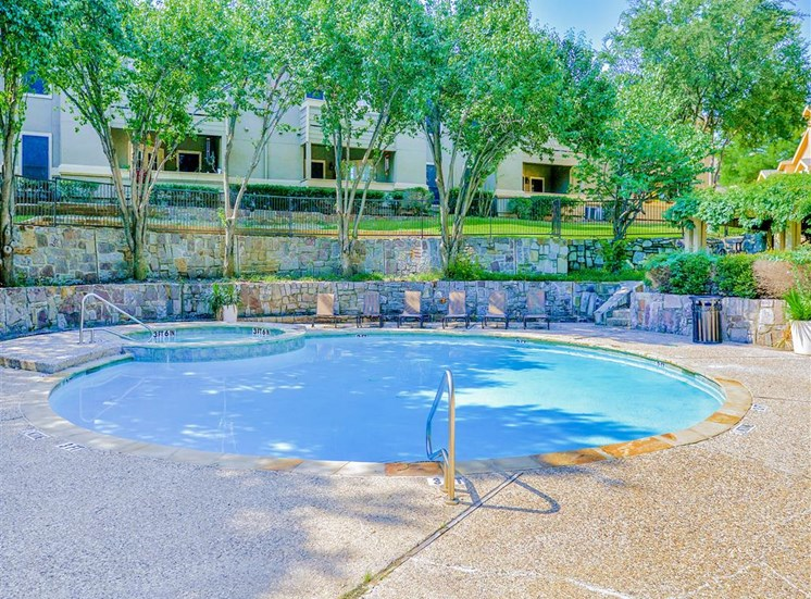 1 of 3 pools at The Winsted at Valley Ranch in Irving, TX, For Rent. Now leasing 1 and 2 bedroom apartments.