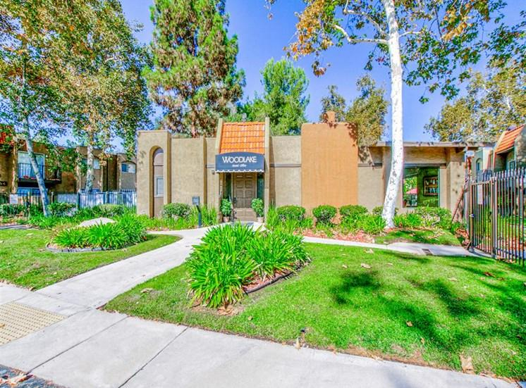 Gated community at Woodlake Apartments in Escondido, CA, For Rent. Now leasing Studio, 1 and 2 bedroom apartments.