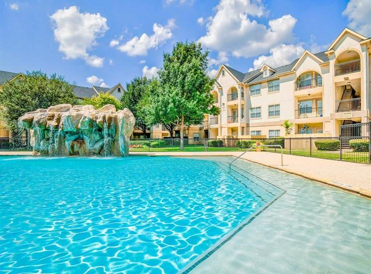 Gigantic pool Tuscany Square Apartments in North Dallas, TX, For Rent. Now leasing Studio, 1 and 2 bedroom apartments.