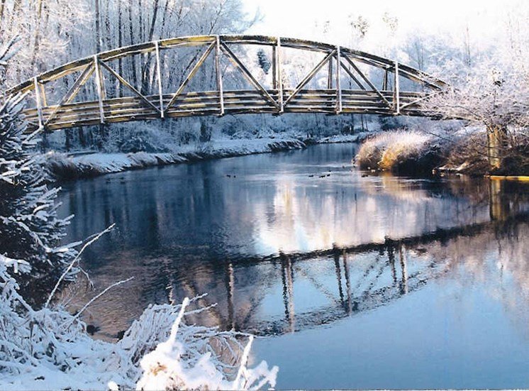 Riverside Landing in the Winter