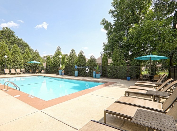 Swimming Pool with Sundeck and Lounge Seating at The Point at Fairview Apartments, Alabama