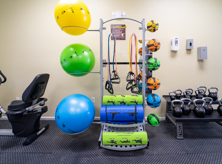 Fitness center with yoga Equipment