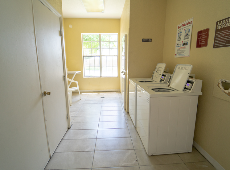 Laundry Center with washers and dryers