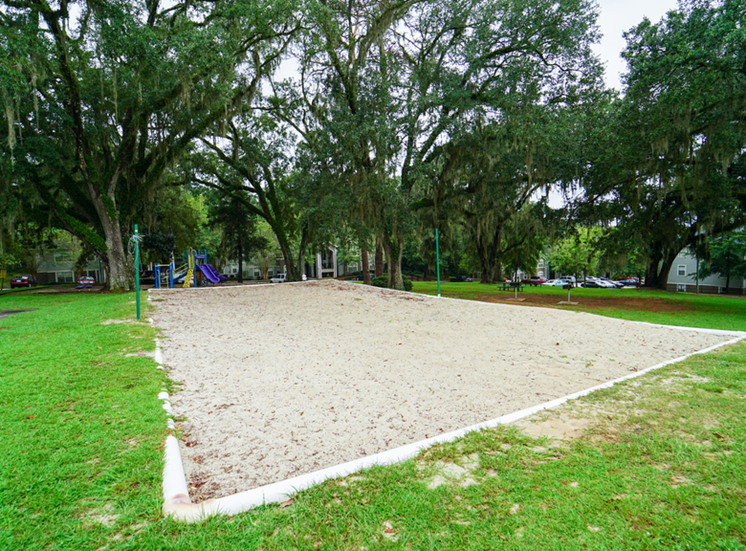 Outdoor sand volleyball