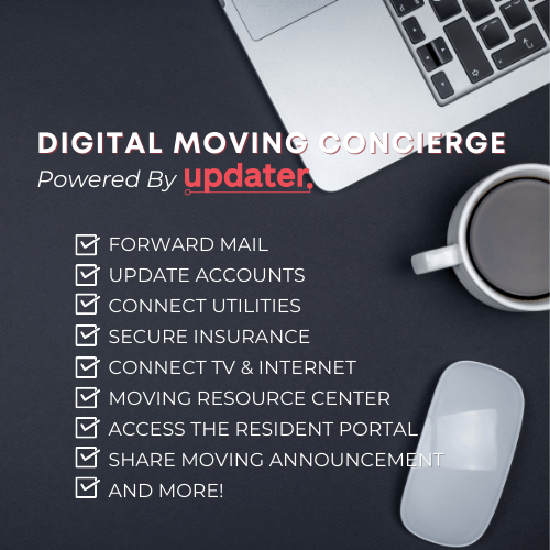 digital moving concierge powered by updater