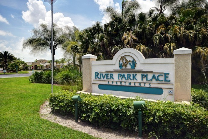 Front Entrance Sign at River Park Place Apartments, Vero Beach