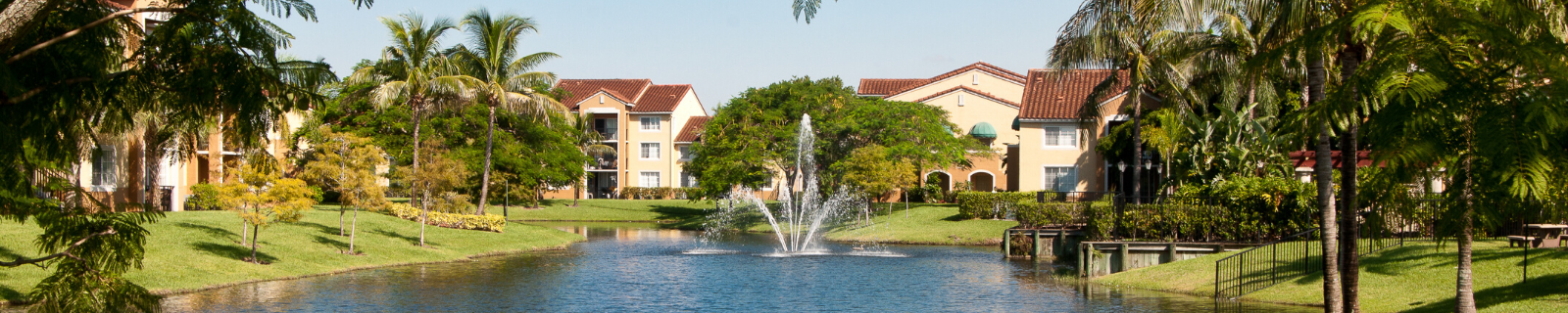 Lake View with Water Fountain Feature