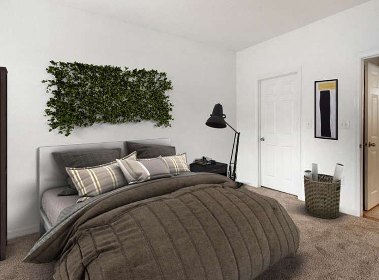 Virtually Staged Bedroom