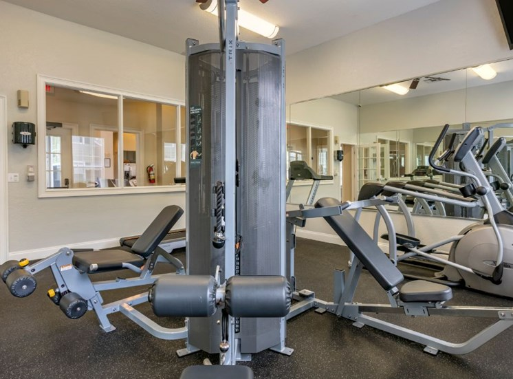 Fitness center with strength and conditioning equipment