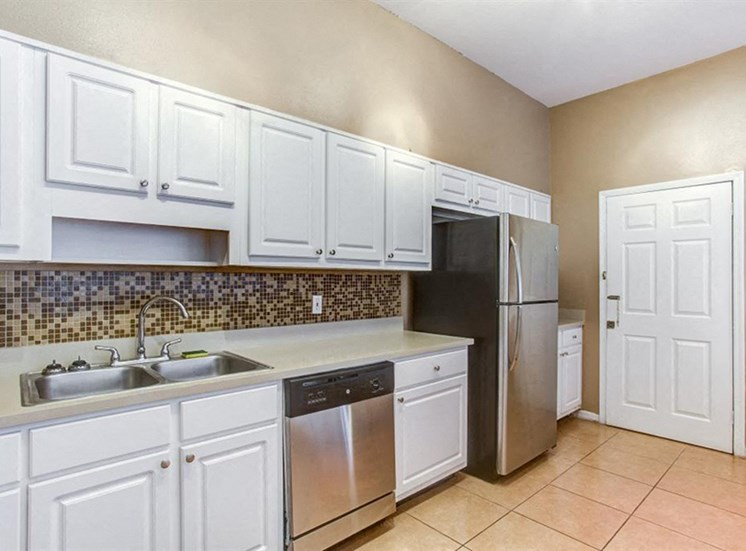 Clubhouse kitchen with refrigerator