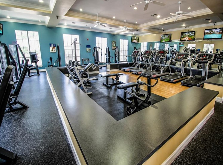 Spacious Fitness Center with Exercise Equipment