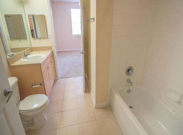 Bathroom with Tiled Shower with Bathtub