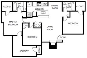 The Laurel Oak (C1) floor plan.
