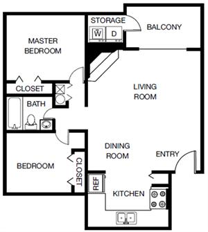 The Magnolia (B1) floor plan.