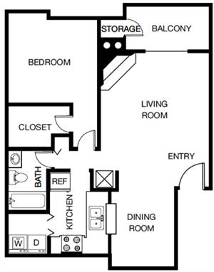The Maple (A3) floor plan.