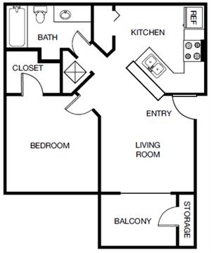 The Palm (A1) floor plan.
