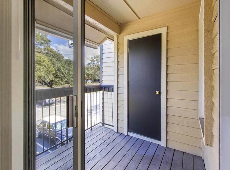 Private Balcony with Storage Door